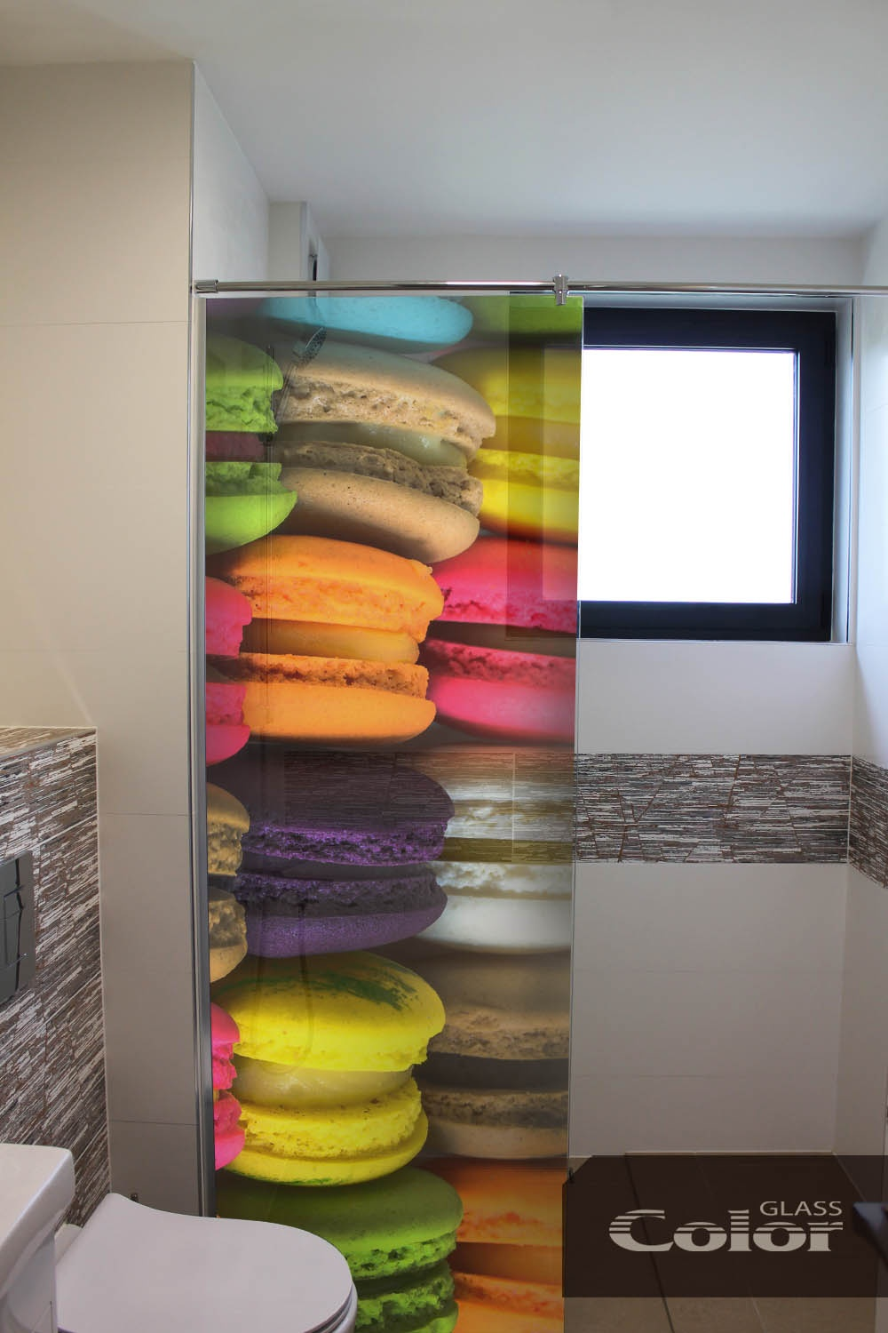 printed glass screens for bathrooms